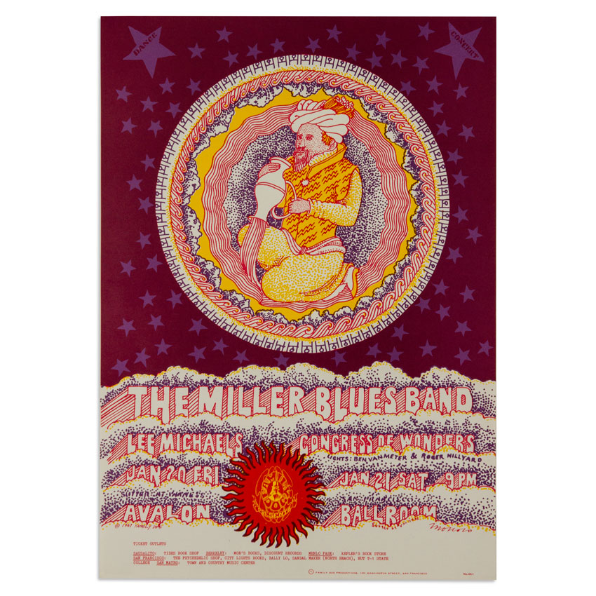 Victor Moscoso Art - The Miller Blues Band at Avalon Ballroom - January 1967