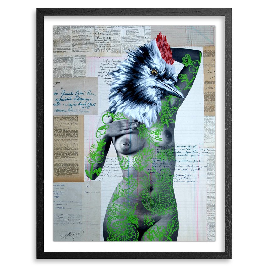 Vinz Hand-painted Multiple - The Tattooed Girl - Especial Edition 03 - Mixed Media Multiple