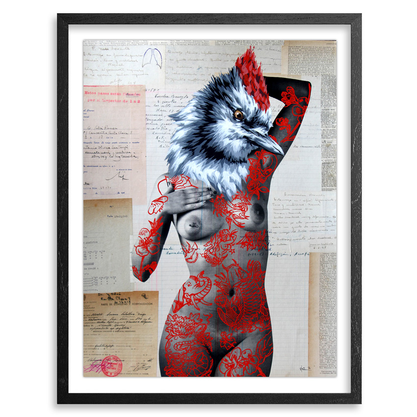 Vinz Hand-painted Multiple - The Tattooed Girl - Especial Edition 06 - Mixed Media Multiple