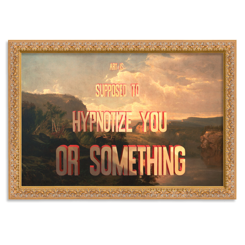 Wayne White Art - Art Is Supposed To Hypnotize You Or Something - Canvas Edition