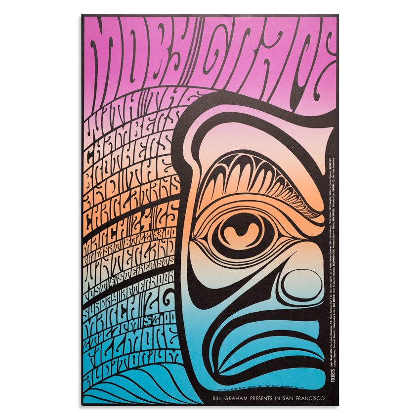 Wes Wilson Art Print - Moby Grape - Split Fountain Poster
