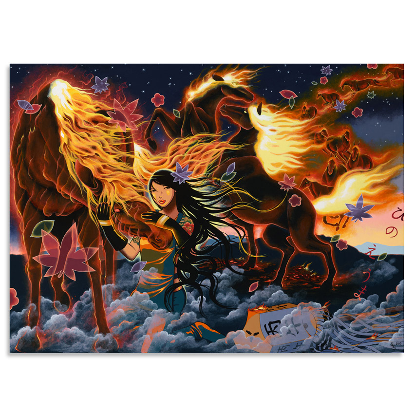Yumiko Kayukawa Original Art - Year of the Fire Horse - Original Artwork
